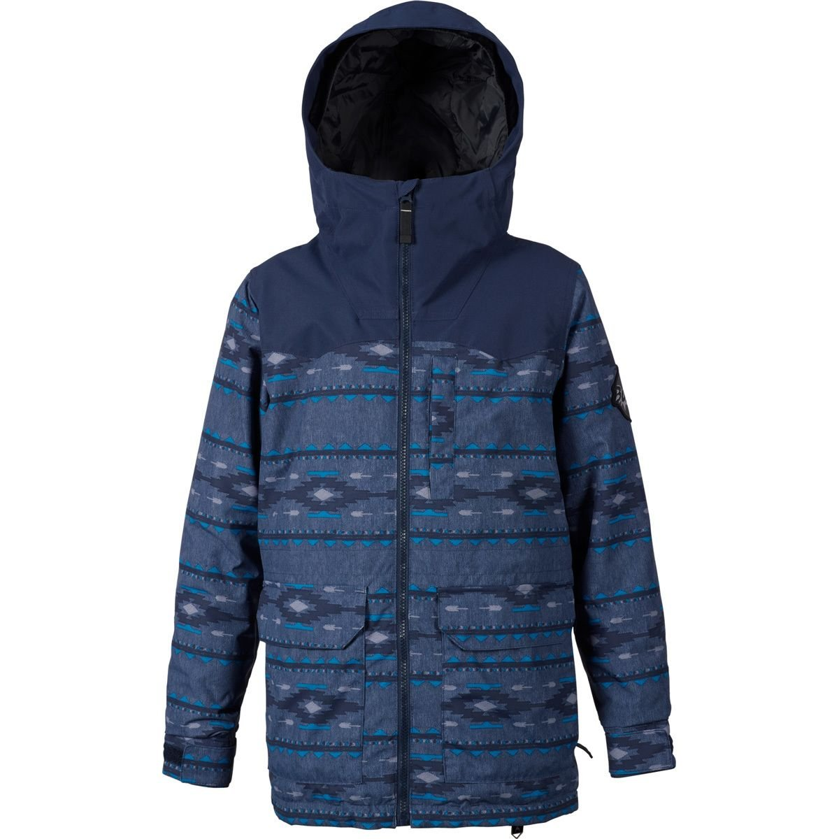 Burton Kids  Boy's Phase Jacket (Little Kids/Big Kids) Mood Indigo Saddle Stripe/Mood Indigo Small by Burton