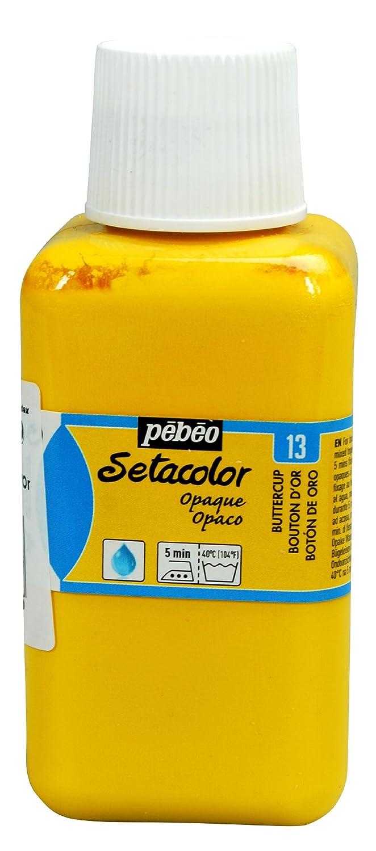 Pebeo Setacolor 不透明ファブリックペイント 250ミリアーボトル バターカップ   B004HW2Z6E