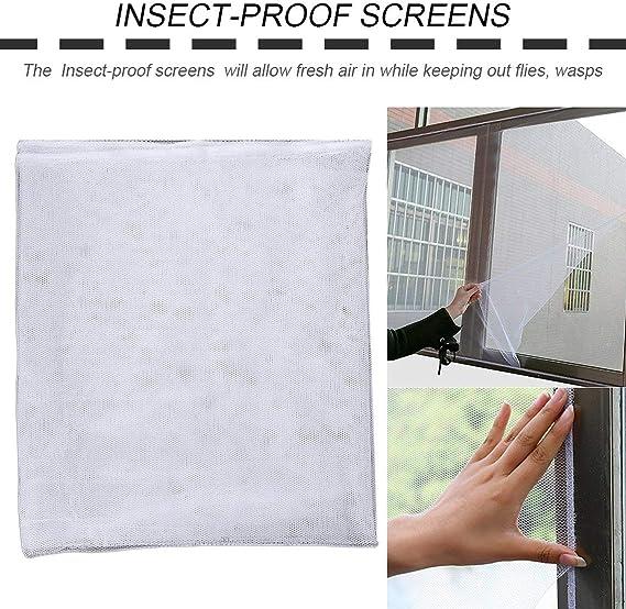 Zinniaya 130x150cm Anti Moustique Porte Fen/être Net Mesh Rideau En Tissu Protecteur Moustiquaire De Porte /Écran D/ét/é Style Mesh Net