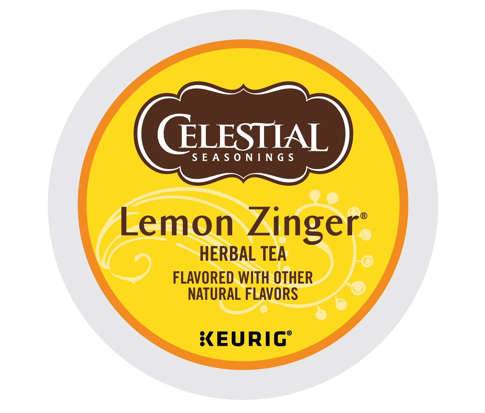 Celestial Seasonings Lemon Zinger Herbal Tea, Single Serve Coffee K-Cup Pod, Tea, 72 by Celestial Seasonings
