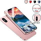 Protective iPhone X Case Slim Design with Shockproof and Antiskid, Meidom Matte Cover Case for iPhone X Only-Rose Gold