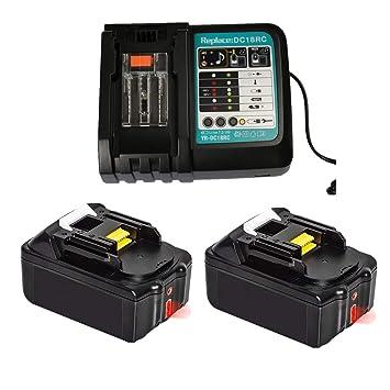 Cargador rápido de repuesto con 2 baterías de 18 V 4.0 Ah (LCD ...