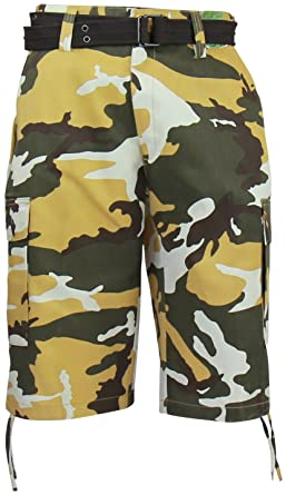 7c57a609b0 Regal Wear Mens Camouflage Cargo Shorts with Belt, Camo Urban, 38:  Amazon.co.uk: Clothing