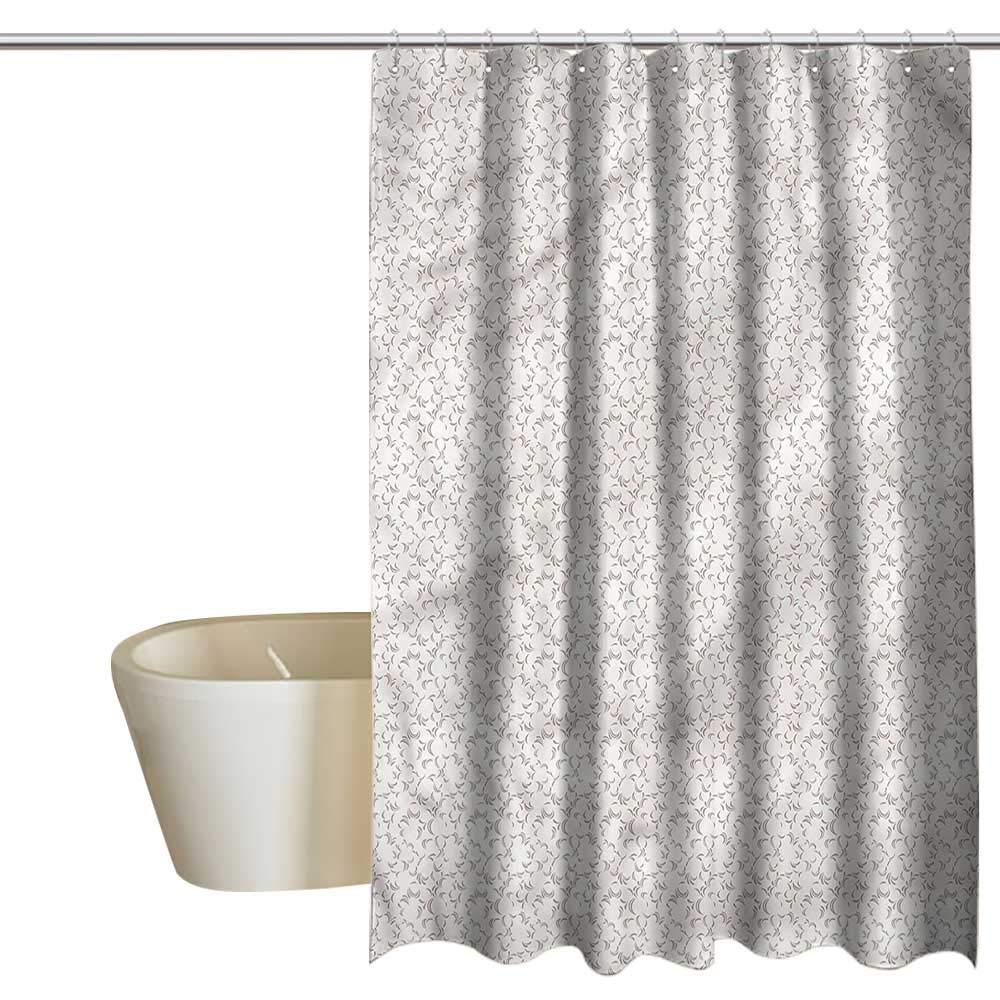 Denruny Shower Curtains Turtle Floral,Nostalgic Garden Flowers,W72 x L96,Shower Curtain for Girls Bathroom