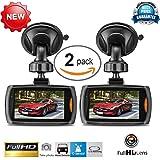 Car recorder,ZIYUO 2 PCes 1080P Full HD Car DVR Vehicle Dash Camera Video Recorder Car Dash cam with G Sensor (2.2 inch Screen)