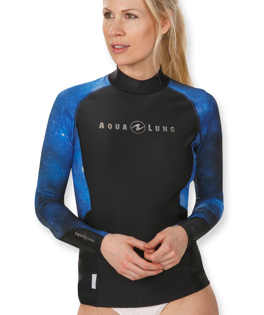 Aqua Lung Women's Long Sleeve Galaxy Rashguard, Blue Camo - MD by Aqua Lung