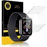 K&L LK Schutzfolie für Apple Watch, Liquid Skin [6 stück] 42mm Series 1,Series 2,Series 3 / 44mm Series 4, [Vollständige Abdeckung] [Blasenfreie] HD klar Flexible Folie