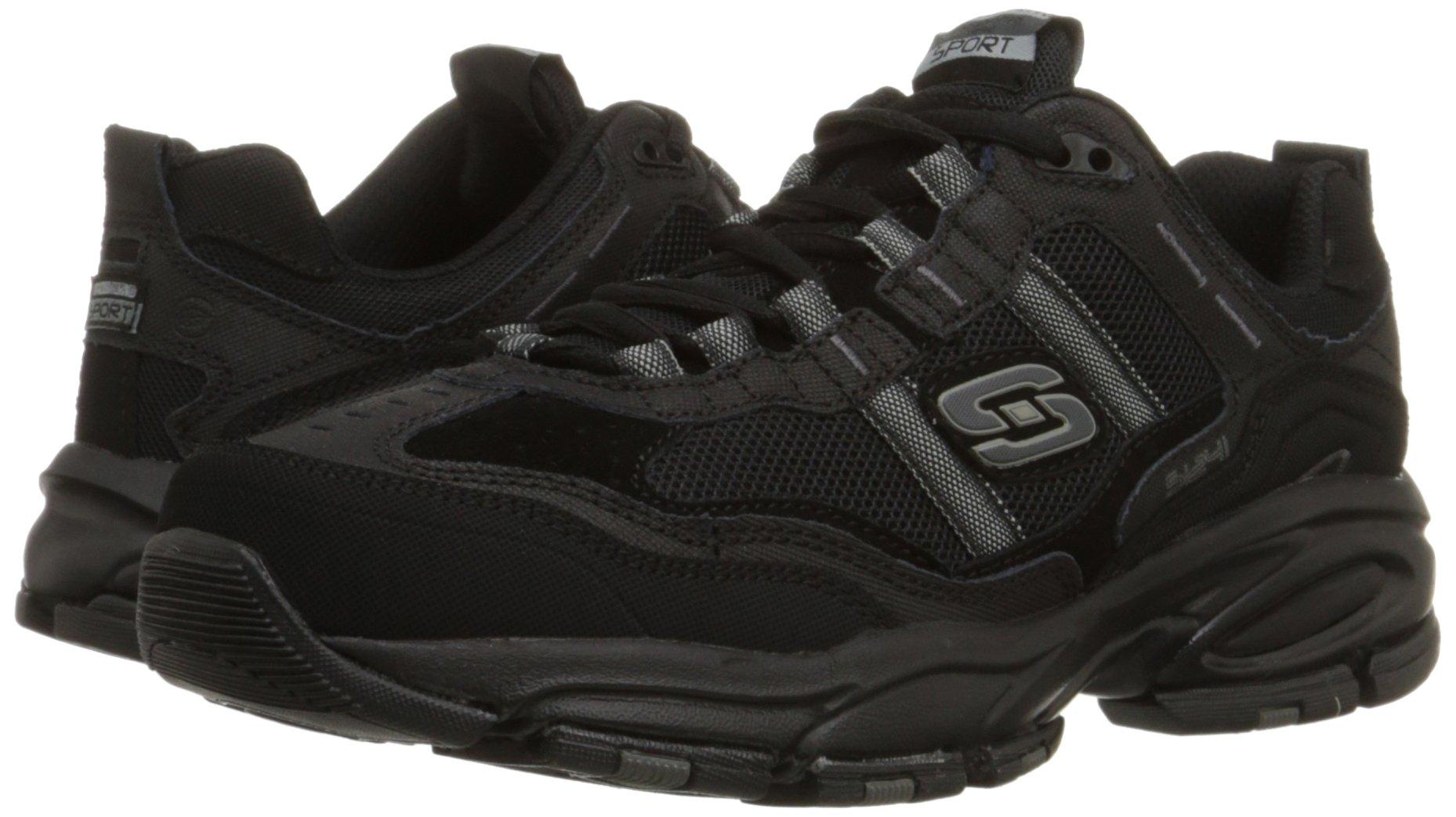 Skechers Sport Men's Vigor 2.0 Trait Memory Foam Sneaker, Black, 12 M US by Skechers (Image #6)