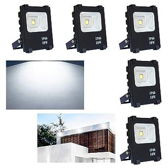 SAILUN 5X10W Blanco frio luz Foco Proyector LED Blanco cálido foco ...