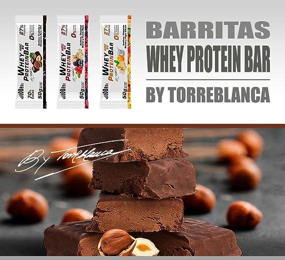 Barritas Proteínas Energéticas Whey Protein BAR By Torreblanca - 20 Barritas de 50g - Sin Azúcar añadida - Ingredientes 100% Naturales - Suplementos ...