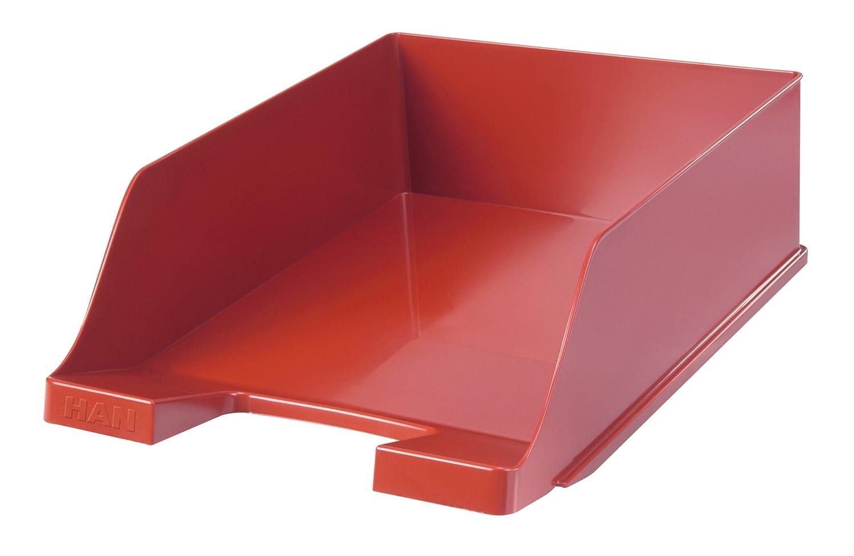 HAN Corbeille à courrier KLASSIK, extra haute, moderne, élégant, transparent et ultra Rouge - lot de 2 HAN Bürogeräte 1047-17