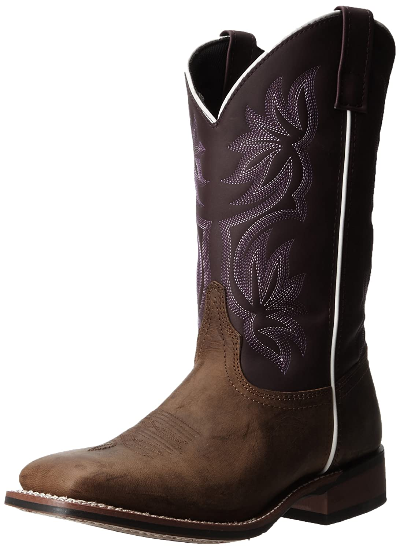Laredo Women's Gorge Western Boot B009LLXXWQ 7.5 B(M) US|Tan/Purple