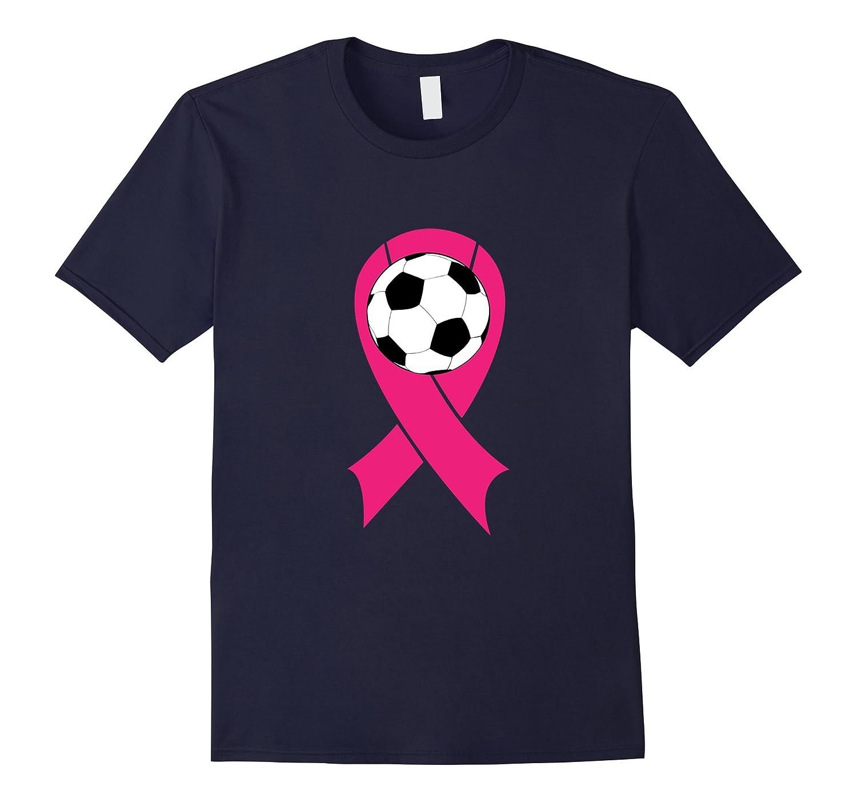 Breast Cancer Awareness Pink Ribbon Soccer Ball Team Shirt-FL