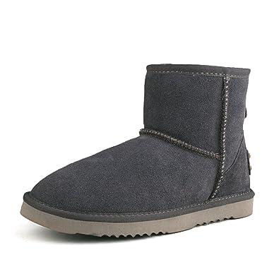 Shenduo Scarpe Donna Invernali - Stivali da Neve Classico Impermeabile  Caldo con Antisdrucciolo D5154 Grigio 36 8c93f4e1120