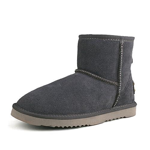 Shenduo Zapatos Invierno clásicos Botas de Nieve de Piel de caña Baja Impermeable Antideslizante para Mujer D5154