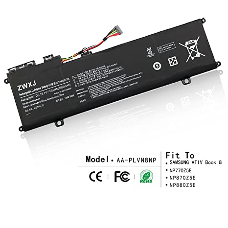 ZWXJ Laptop Battery AA-PLVN8NP 15.1V 91WH 6050MAH for Samsung ATIV Book 8 NP770Z5E