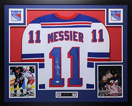 factory authentic fdf45 1a336 Mark Messier Autographed White New York Rangers Jersey ...