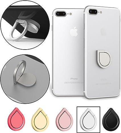 Teléfono celular dedo anillo soporte soporte, 360 ° rotación funda ...
