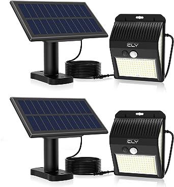 CLY Luces Solares LED Exterior Impermeable,Lámparas solares de ...