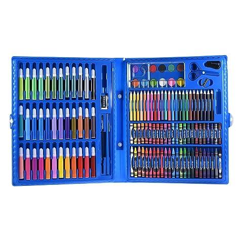 Aibecy 148pcs Deluxe Art Set para Niños con Estuche Marcadores de Colores Lápices de Colores Lápices de Colores Regalo de Acuarela para Niños ...