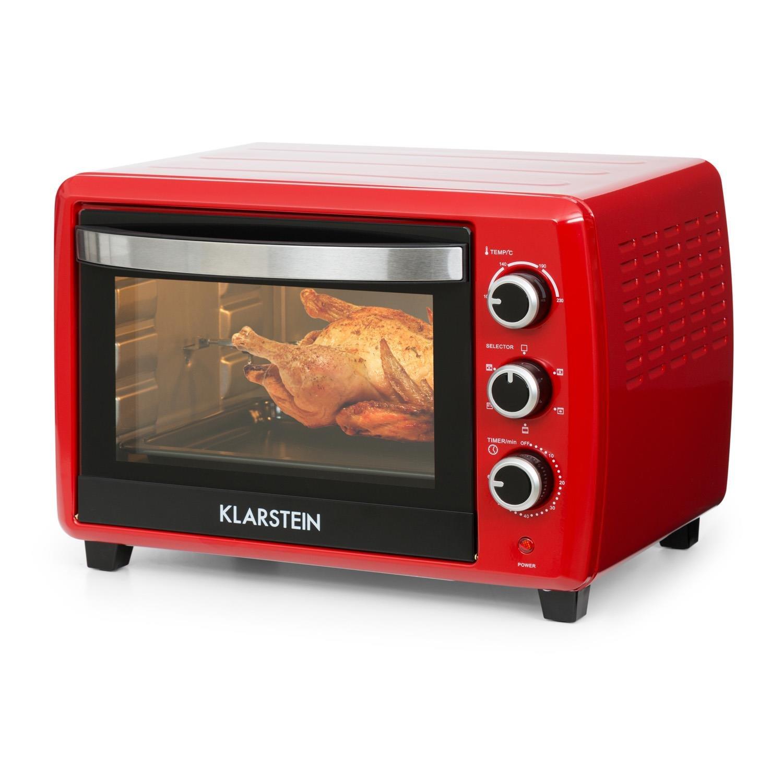 20 L, 1500W, r/égulateur temp/érature: max. 230 /°C, 5 fonctions de cuisson dont r/ôtissoire, plaque et grille incluses Klarstein Omnichef 20 2G Mini-four blanc