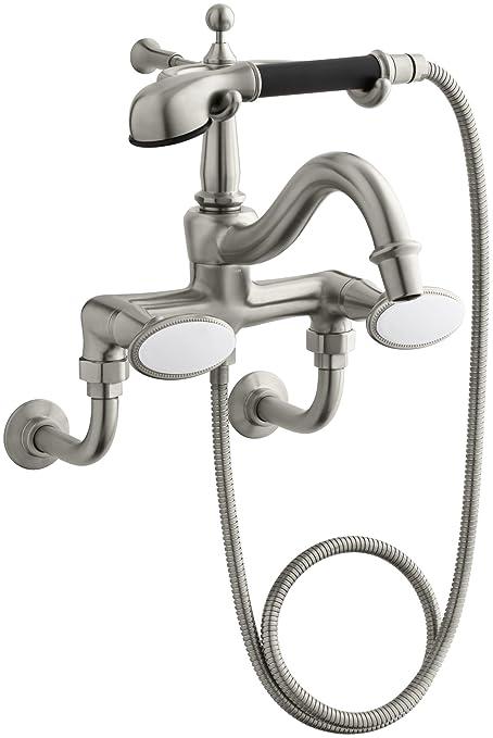Kohler Tub Faucet With Hand Shower.Kohler K 110 9b Bn Antique Bath Faucet With Handshower And