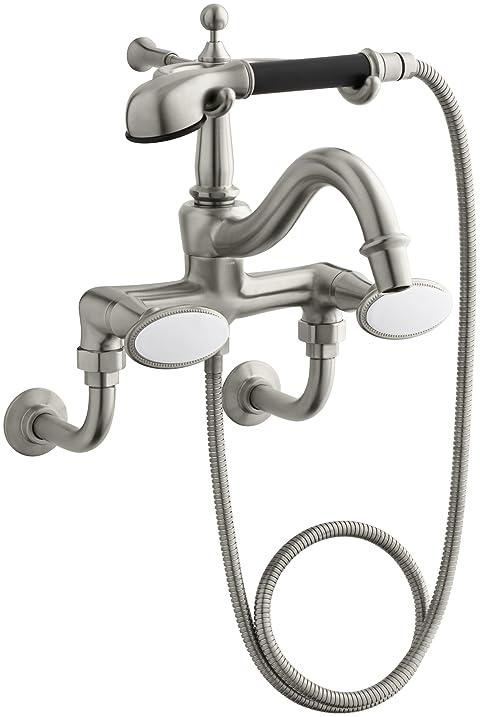 KOHLER K-110-9B-BN Antique Bath Faucet with Handshower and Oval ...