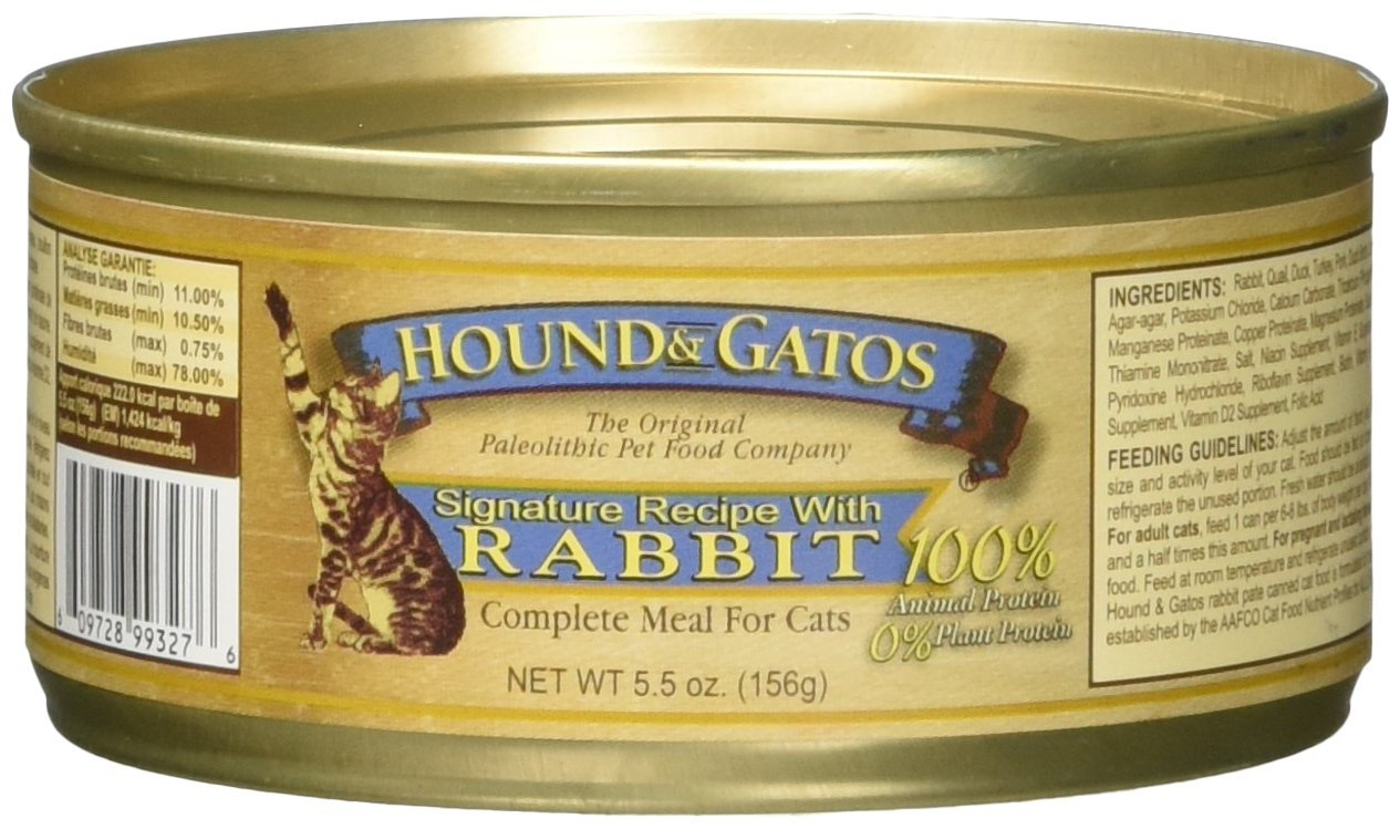 Hound & Gatos American Rabbit for Cats 24 5.5 oz cans