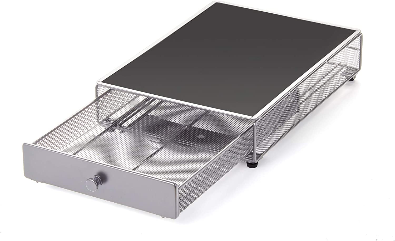 Nifty Appliance Rolling Drawer - Silver, Office or Home Kitchen Counter Organizer, Non-Slip Mat Top for Coffee Maker, Stand Mixer, Blender, Toaster