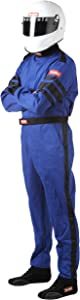 RaceQuip 110026 110 Series X-Large Blue SFI 3.2A/1 Single Layer One-Piece Driving Suit