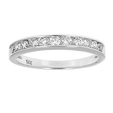 ef07869b253be Vir Jewels 1/2 cttw Certified I1-I2 14K Classic Diamond Wedding Band  Channel Set