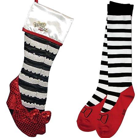 gift set wizard of oz wicked witch ruby slipper christmas stocking socks