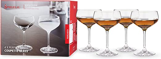 Spiegelau Coupette Glass, Set of 4 Cocktail Coupes, European Lead-Free Crystal, Holds 8.3 oz