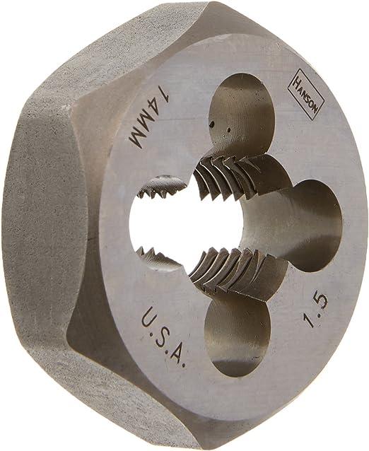 HA6952 14mm-2mm High Carbon Steel Metric Hexagon Die 1.44 Across Flat Irwin Tools 6952 Irwin Industrial Tool Co