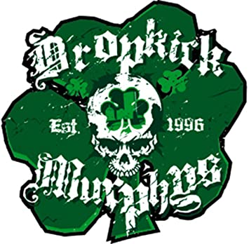 DROPKICK MURPHYS SHAM SKULL, Officially Licensed Original Artwork, Premium Quality, 4 x 4.25 - Sticker Aufkleber DECAL 4 x 4.25 - Sticker Aufkleber DECAL Officially Licensed /& Trademarked Products S-6000