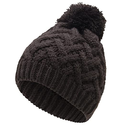 fa0ac277d Isaac Mizrahi Cable Knit Winter Pom Hats for Women in Basic Black & Winter  White