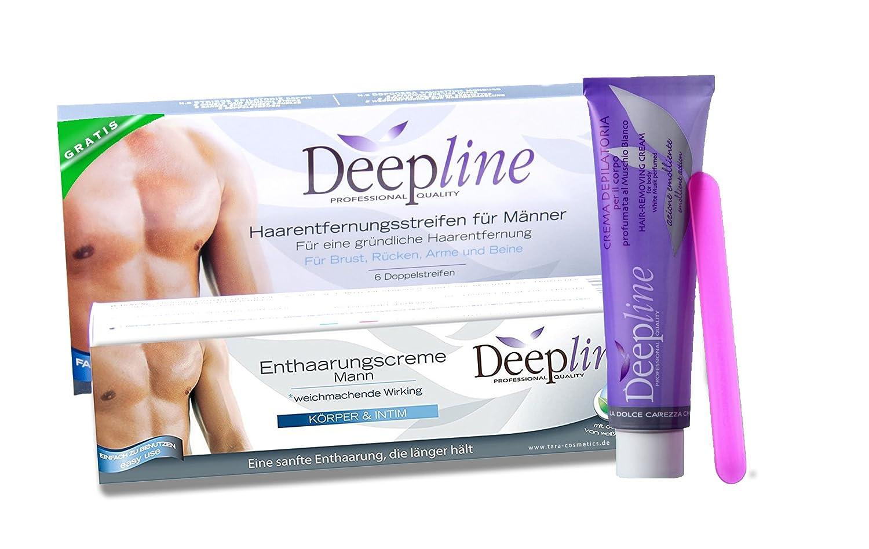 Deepline Práctico set de depilación para hombres con crema ...