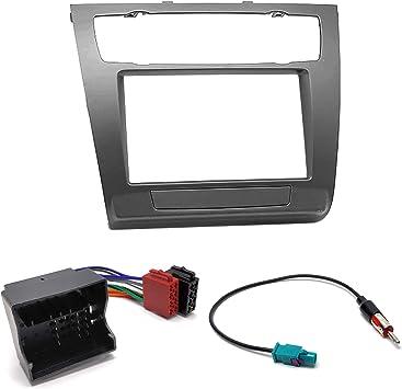 UGAR 11-481 Kit Fascia + Arnés ISO + Adaptador de Antena Compatible con BMW 1-Series (E81, 82, 87, 88) 2007-2011