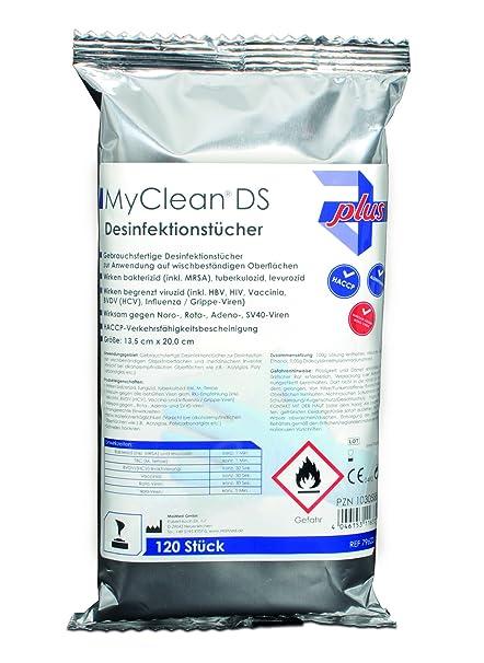myclean® DS Toallitas desinfectantes (Neutral) 120 stüc de piel de higiene de manos
