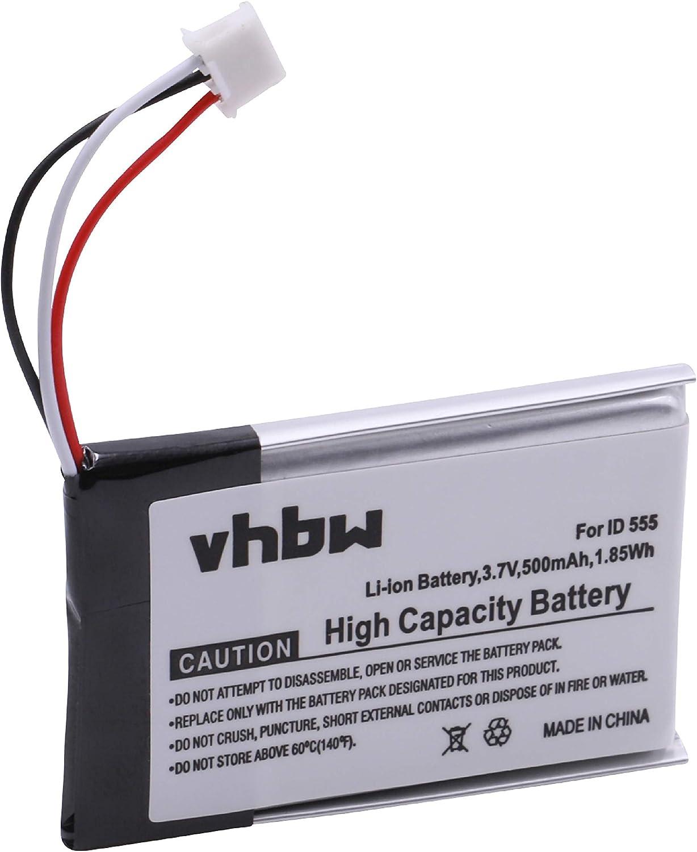 vhbw Li-Ion batería 500mAh (3.7V) para teléfono Fijo inalámbrico GE 28118FE1 DECT6.0 UltraSlim sustituye 5-2762, 5-2770, SL-422943