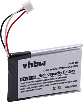 vhbw Li-Ion batería 500mAh (3.7V) para teléfono Fijo inalámbrico GE 28118FE1 DECT6.0 UltraSlim sustituye 5-2762, 5-2770, SL-422943: Amazon.es: Electrónica