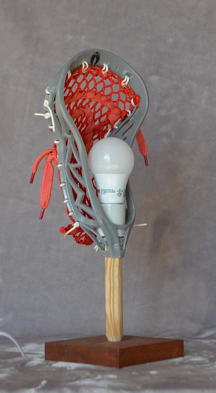LaxLight Lacrosse Red/White Sport Bedroom lamp, Lacrosse Light - Lacrosse Gift N/Black Cherry - - Amazon.com