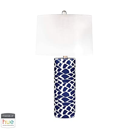 Contemporary Home Living 28 Navy Blue And White Scale