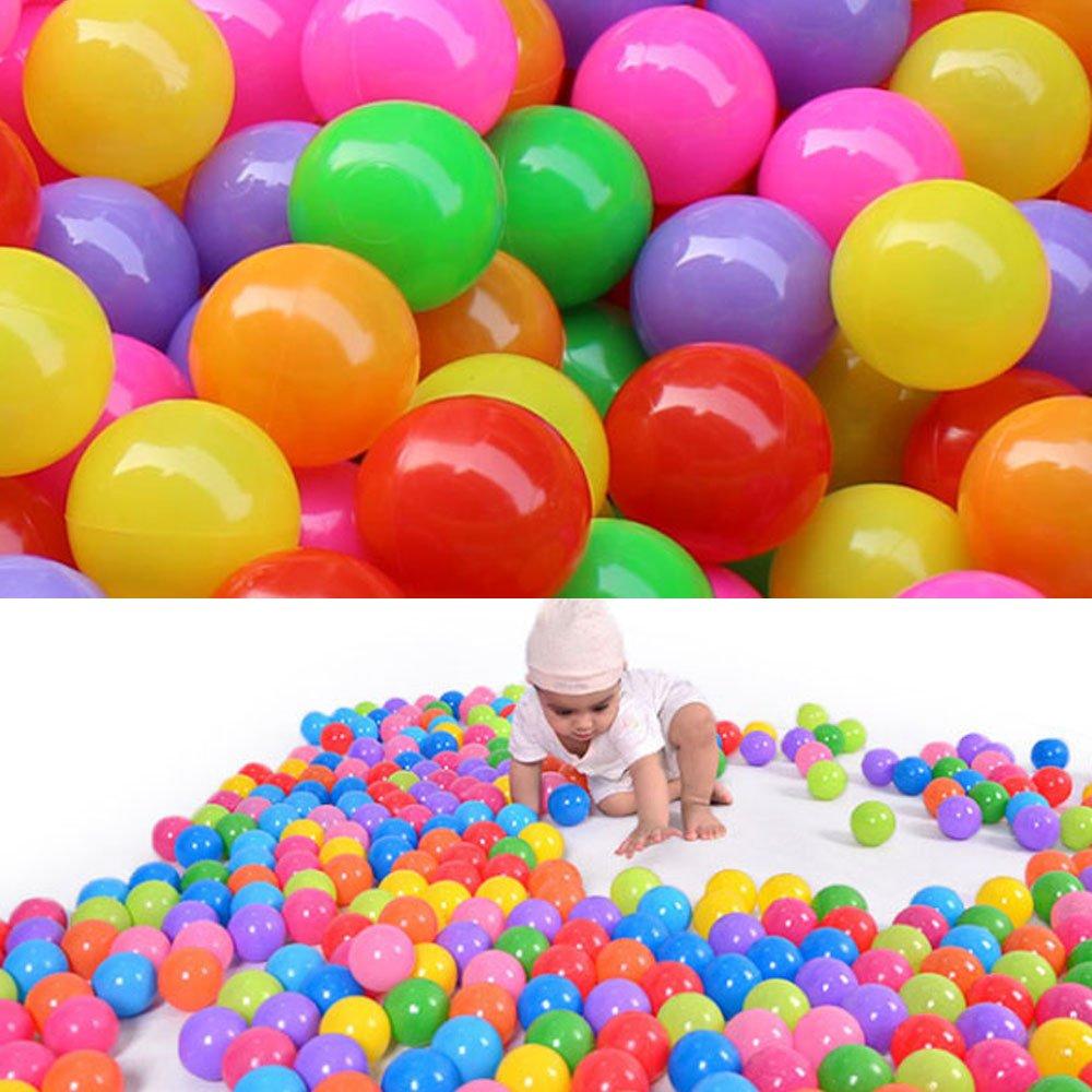 5cm, 10 St/ück Supmeet/™ 10//100//200//500//1000 St/ück bunte Kugel Fun Ball weichen Kunststoff Ozean-Kugel-Baby-Kind-Spielzeug-Schwimmen-Pit-Spielzeug