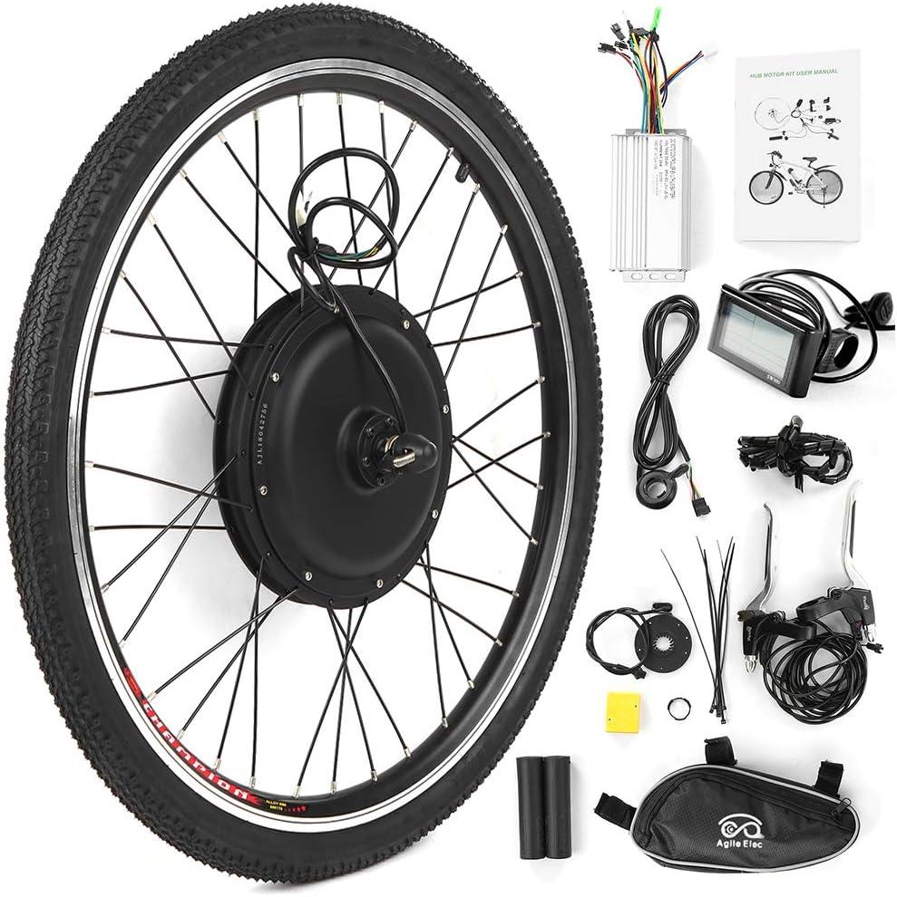 Walmeck- Kit de conversión de Bicicleta eléctrica Bicicleta Rueda Trasera Buje Kit de Motor 48V 1000W Potente E-Bike Pantalla LCD Kit de Motor: Amazon.es: Deportes y aire libre
