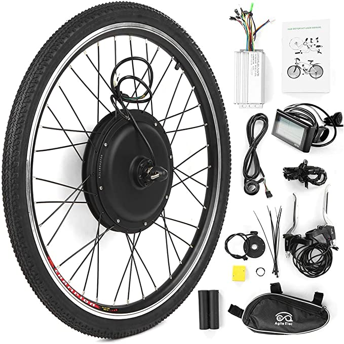 Walmeck- Kit de conversión de Bicicleta eléctrica Bicicleta Rueda ...