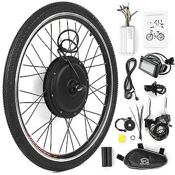 Walmeck- Kit de conversión de Bicicleta eléctrica Bicicleta Rueda Trasera Buje Kit de Motor 48V 1000W Potente E-Bike Pantalla LCD Kit de Motor: Amazon.es: ...