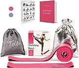 Stretch Bands for Dancers, Ballerinas and Gymnasts   Dance Stretch Bands for Flexibility, Mobility and Strength   Shiny Bag, Travel Bag, Printed Stretches and Stretching E-Guide