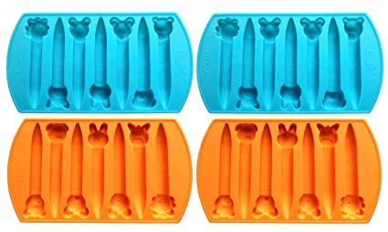 Makes 14 Animal Crayons Total by My Fruit Shack Crayon 2 Animal Shaped Chunky Silicone Oven Safe Crayon Molds
