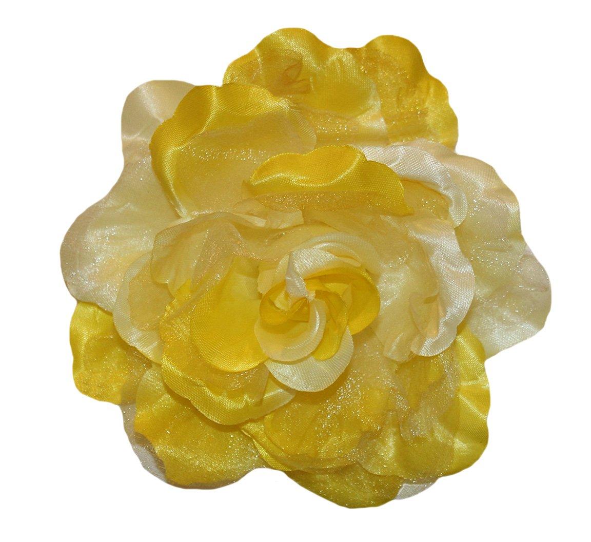 Amazon Wd2u Extra Large Chiffon Rose Silk Flower Hair Bow